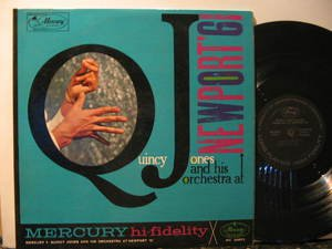 QUINCY JONES usa LP NEWPORT' 61 Jazz STAMP ON BACK COVER MERCURY