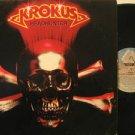 KROKUS mexico LP HEADHUNTER Rock BACK IN SPANISH/ORIGINAL INNER SLEEVE ARISTA