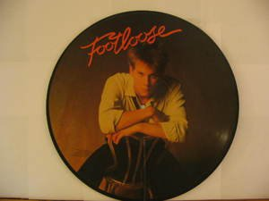 KEVIN BACON usa LP FOOTLOOSE OST PICTURE DISC/SOUNDTRACK COLUMBIA