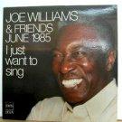 JOE WILLIAMS usa LP I JUST WANT TO SING Jazz DMS