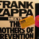 FRANK ZAPPA usa LP MEETS THE MOTHERS OF PREVENTION Rock WITH INSERT BARKING PUMP