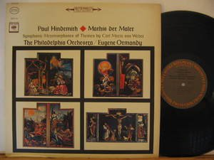 EUGENE ORMANDY usa LP PAUL HINDEMITH-MATHIS DER MALER Classical STEREO COLUMBIA
