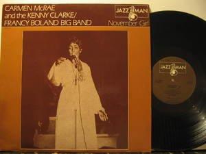 CARMEN MCRAE usa LP NOVEMBER GIRL Jazz JAZZMAN excellent
