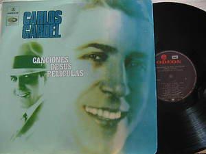 CARLOS GARDEL latin america LP CANCIONES DE SUS PELICULAS Tango ODEON