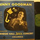 BENNY GOODMAN usa LP CARNEGIE HALL JAZZ CONCERT GREEN LABEL/2 LPs/WATER STAINS O