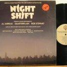 AL JARREAU/QUATERFLASH/ROD STEWART usa LP NIGHT SHIFT OST SAW CUT/IN SHRINK WRAP