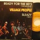 """VILLAGE PEOPLE mexico 45 READY FOR THE 80'S 7"""" Dj PICTURE SLEEVE RCA"""