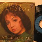 """VICKY LEANDROS germany 45 DU LASST MIR MEINE WELT 7"""" Vocal PICTURE SLEEVE PHILIP"""