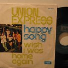 """UNION EXPRESS spain 45 HAPPY SONG 7"""" Rock PICTURE SLEEVE/WRITING ON BACK DECCA"""