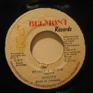 "TRINITY/JOE GIBBS jamaica 45 STARKY & HUTCH/REINCARNATION 7"" Reggae BELMONT"