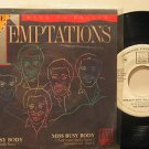 """TEMPTATIONS mexico 45 MISS BUSY BODY 7"""" Soul PICTURE SLEEVE/PROMO WHITE LABEL MO"""