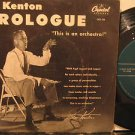 "STAN KENTON usa 45 PROLOGUE 7"" Jazz PICTURE SLEEVE CAPITOL"