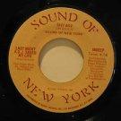 "SOUND OF NEW YORK usa 45 LAST NIGHT A D.J. SAVED MY LIFE 7"" Rock SNY 602"