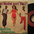 """SHEILA B.DEVOTION germany 45 YOU LIGHT MY FIRE 7"""" French PICTURE SLEEVE CARRERE"""