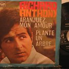 """RICHARD ANTHONY spain 45 ARANJUEZ MON AMOUR 7"""" French PICTURE SLEEVE COLUMBIA"""