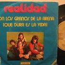 """REALIDAD spain 45 CON LOS GRANOS DE ARENA 7"""" Rock PICTURE SLEEVE/WRITING ON LABE"""