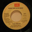 "QUEEN AND DAVID BOWIE mexico 45 BAJO PRESION/HERMANO DEL ALMA 7"" Rock SPANISH PR"