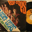 "POP TOPS italy 45 DZIM DZIM DZAS 7"" Rock PICTURE SLEEVE/WRITING ON COVER & LABEL"