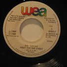 """PHIL COLLINS guatemala 45 ANOTHER DAY IN PARADISE/HEAT ON THE ST. 7"""" Pop LABEL I"""