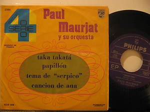 """PAUL MAURIAT mexico 45 EXITOS SERIE ORO 7"""" Easy PICTURE SLEEVE PHILIPS"""