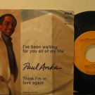 "PAUL ANKA mexico 45 I'VE BEEN WAITING FOR YOU ALL MY LIFE 7"" Vocal PICTURE SLEEV"
