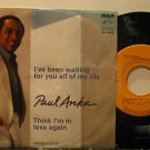 "PAUL ANKA mexico 45 I'VE BEEN WAITING 7"" Vocal PICTURE SLEEVE RCA"