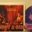 NIRVANA france CD ABOUT A GIRL Rock CARD SLEEVE/2 TRACKS GEFFEN excellent
