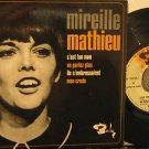 "MIREILLE MATHIEU france 45 C'EST TON NOM 7"" French PICTURE SLEEVE BARCLAY"