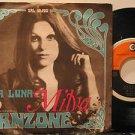 "MILVA italy 45 LA LUNA 7"" Italian PICTURE SLEEVE RICORDI"