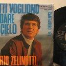 "MARIO ZELINOTTI italy 45 TUTTI VOGLIONO 7"" Italian PICTURE SLEEVE DURIUM"