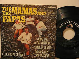 """MAMAS & THE PAPAS mexico 45 DEDICADO AL QUE AMO 7"""" Rock PICTURE SLEEVE RCA"""