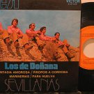 "LOS DE DONANA spain 45 SEVILLANAS 7"" PICTURE SLEEVE RCA"