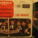 """LOS ARAGON mexico 45 GABRIELA 7"""" Rock PICTURE SLEEVE MUSART"""