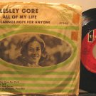 """LESLEY GORE usa 45 ALL OF MY LIFE 7"""" Vocal PICTURE SLEEVE MERCURY"""