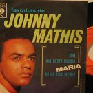 """JOHNNY MATHIS mexico EP FAVORITAS 7"""" Vocal PICTURE SLEEVE CBS"""