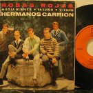 "HERMANOS CARRION mexico 45 ROSAS ROJAS 7"" Latin PICTURE SLEEVE CBS"