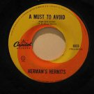 """HERMAN'S HERMITS mexico 45 A MUST TO AVOID/THE MAN WITH A CIGAR 7"""" Rock LABEL IN"""