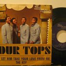 "FOUR TOPS italy 45 DON'T LET HIM TAKE YOUR LOVE FROM ME 7"" Soul PICTURE SLEEVE T"