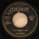 "FATS DOMINO u.k. 45 THE PRISONER'S SONG /LITTLE MARY 7"" Reggae LONDON"