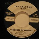 "FALCONS usa 45 GODDESS OF ANGELS/YOU'RE SO FINE 7"" Rock PROMO/WHITE LABEL UNART"