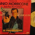 "ENNIO MORRICONE france 45 LE PROFESSIONNEL 7"" OST PICTURE SLEEVE WEA"