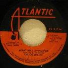 "CHUCK WILLIS jamaica 45 WHAT I AM LIVING FOR/C.C.RIDER 7"" Reggae WRITING ON LABE"