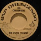 """CHALLENGERS usa 45 THE WATER COUNTRY/EVERYTHING TO ME 7"""" Rock PROMO/WHITE LABEL"""