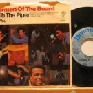 "CHAIRMAN OF THE BOARD usa 45 PAY TO THE PIPER/BLESS YOU 7"" Soul PICTURE SLEEVE/T"