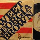 "BROTHER BONES/HARLEM GLOBETROTTERS usa 45 SWEET GEORGIA BROWN 7"" Jazz PICTURE SL"