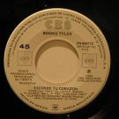 "BONNIE TYLER mexico 45 ESCONDE TU CORAZON 7"" Rock PROMO/WHITE LABEL CBS"
