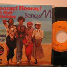 "BONEY M. mexico 45 HOORAY HOORAY 7"" Rock PICTURE SLEEVE RCA"