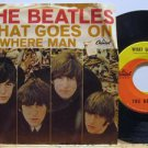 """BEATLES usa 45 WHAT GOES ON/NOWHERE MAN 7"""" Rock PICTURE SLEEVE CAPITOL"""