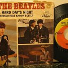 "BEATLES usa 45 A HARD DAY'S NIGHT 7"" Rock PICTURE SLEEVE CAPITOL"