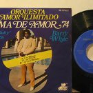 """BARRY WHITE mexico EP TEMA DE AMOR '74 7"""" Soul PICTURE SLEEVE GAMMA"""